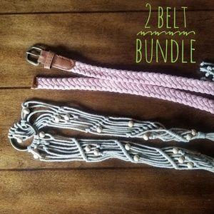 Accessories - BELT Bundle braided pink belt